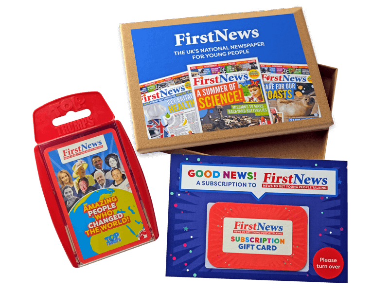 First News gift box and Top Trumps
